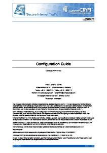 Configuration Guide. CompanyCRYPT v1.5.0