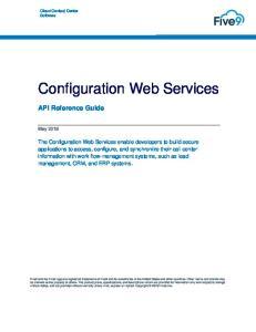 Configuration Web Services