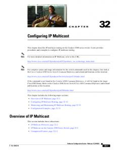 Configuring IP Multicast