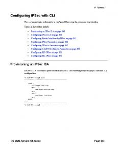 Configuring IPSec with CLI
