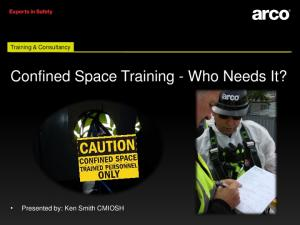 Confined Space Training - Who Needs It?