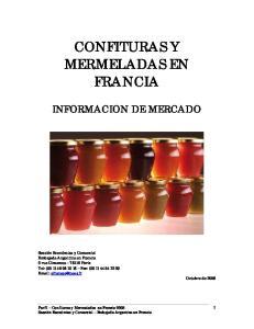 CONFITURAS Y MERMELADAS EN FRANCIA