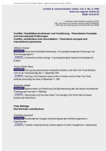 conflict & communication online, Vol. 2, No. 2, ISSN