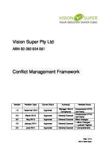 Conflict Management Framework