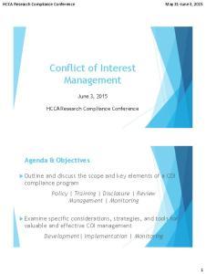 Conflict of Interest Management