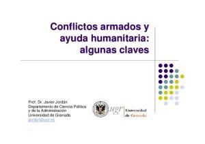 Conflictos armados y ayuda humanitaria: algunas claves