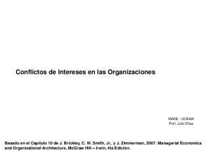 Conflictos de Intereses en las Organizaciones