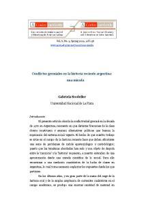 Conflictos gremiales en la historia reciente argentina: una mirada. Gabriela Scodeller. Universidad Nacional de La Plata