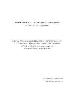 CONFLICTOS SOCIALES Y DESARROLLO REGIONAL:
