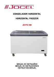 CONGELADOR HORIZONTAL HORIZONTAL FREEZER