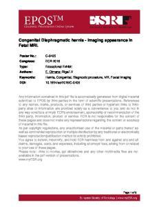 Congenital Diaphragmatic hernia - imaging appearance in Fetal MRI