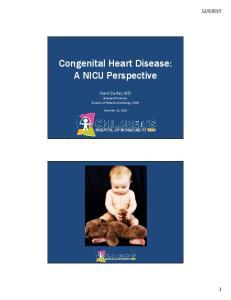 Congenital Heart Disease: A NICU Perspective