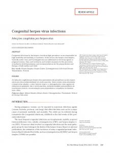 Congenital herpes virus infections