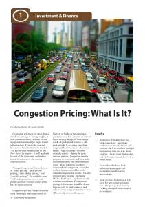 Congestion Pricing: What Is It?