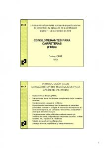 CONGLOMERANTES PARA. CARRETERAS (HRBs)