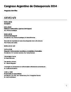 Congreso Argentino de Osteoporosis 2014