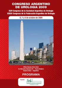 CONGRESO ARGENTINO DE UROLOGIA 2009