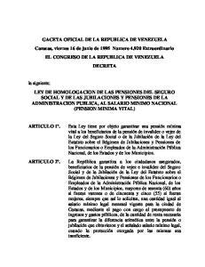 CONGRESO DE LA REPUBLICA DE VENEZUELA DECRETA