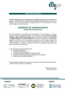 CONGRESO DE TURISMO DIGITAL CONGRESO NACIONAL EN CANARIAS