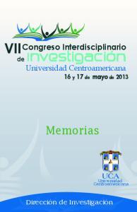 Congreso Interdisciplinario 16 y 17 de mayo de 2013