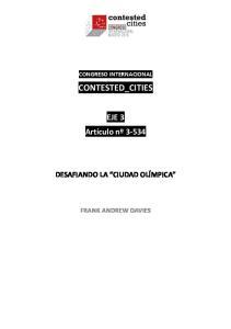 CONGRESO INTERNACIONAL CONTESTED_CITIES