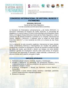 CONGRESO INTERNACIONAL DE HISTORIA, MUSEOS Y PATRIMONIO