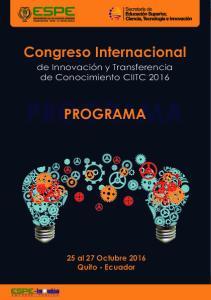 Congreso Internacional PROGRAMA