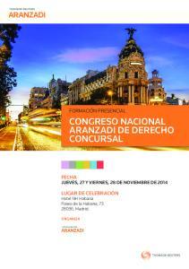 CONGRESO NACIONAL ARANZADI DE DERECHO CONCURSAL