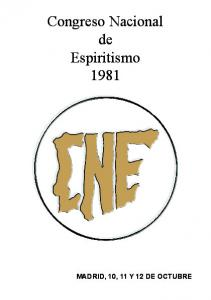 Congreso Nacional de Espiritismo 1981