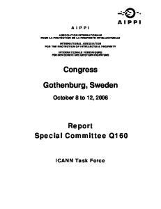 Congress. Gothenburg, Sweden