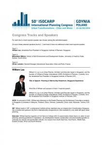 Congress Tracks and Speakers