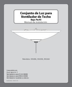 Conjunto de Luz para Ventilador de Techo