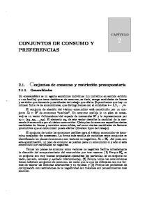 CONJUNTOS DE CONSUMO Y
