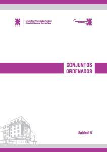 CONJUNTOS ORDENADOS. Unidad 3