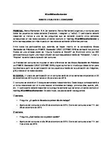 #ConMiBecaSantander BASES LEGALES DEL CONCURSO