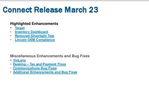 Connect Release March 23