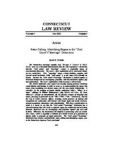 CONNECTICUT LAW REVIEW