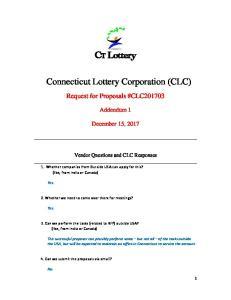 Connecticut Lottery Corporation (CLC)