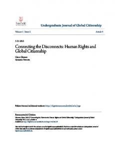Connecting the Disconnects: Human Rights and Global Citizenship
