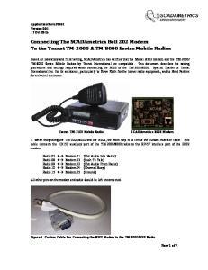 Connecting The SCADAmetrics Bell 202 Modem To the Tecnet TM-2000 & TM-8000 Series Mobile Radios