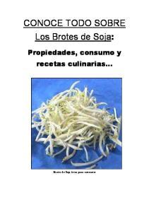 CONOCE TODO SOBRE Los Brotes de Soja: