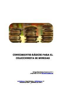 CONOCIMIENTOS BÁSICOS PARA EL COLECCIONISTA DE MONEDAS