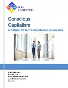 Conscious Capitalism. A Natural Fit for Family-Owned Businesses