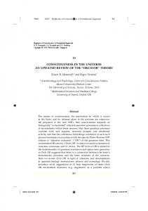CONSCIOUSNESS IN THE UNIVERSE AN UPDATED REVIEW OF THE ORCH OR THEORY