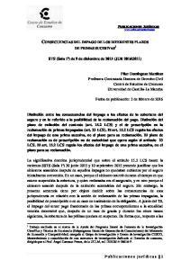 CONSECUENCIAS DEL IMPAGO DE LOS DIFERENTES PLAZOS