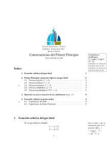 Consecuencias del Primer Principio 22 de noviembre de 2010