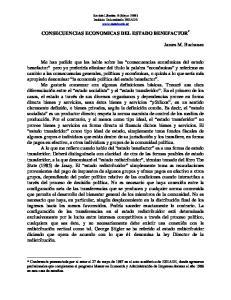 CONSECUENCIAS ECONOMICAS DEL ESTADO BENEFACTOR *