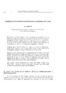 CONSECUENCIAS ESPACIALES DE LOS ACUERDOS DEL GATT