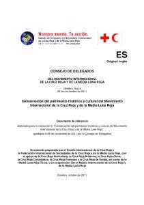 CONSEJO DE DELEGADOS DEL MOVIMIENTO INTERNACIONAL DE LA CRUZ ROJA Y DE LA MEDIA LUNA ROJA. Ginebra, Suiza 26 de noviembre de 2011