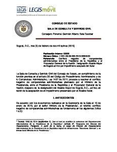 CONSEJO DE ESTADO I. ANTECEDENTES